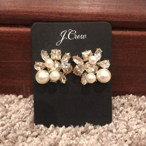 J.Crew Crystal and Gold Earrings